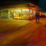 DiMaggio's Cleaners original painting
