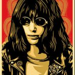 Joey Ramone Red - Shepard Fairey